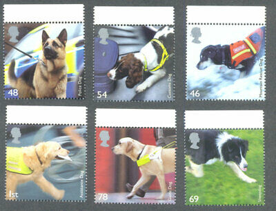 Great Britain Working Dogs mnh set
