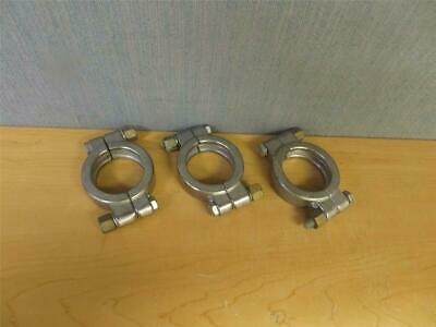"Set of 3 2"" Bolted High Pressure Sanitary Clamps SS (16518)"