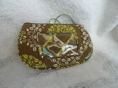 Vera Bradley Clip zip Window ID holder in Sittin in a Tree