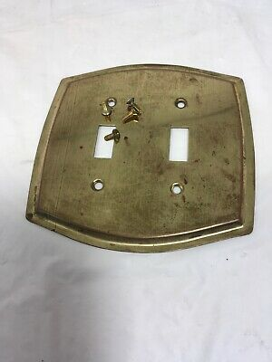 Brass vintage Double switch plate cover
