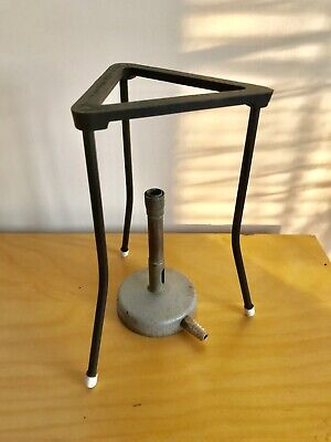 Vintage Bunsen Burner And Tripod Stand