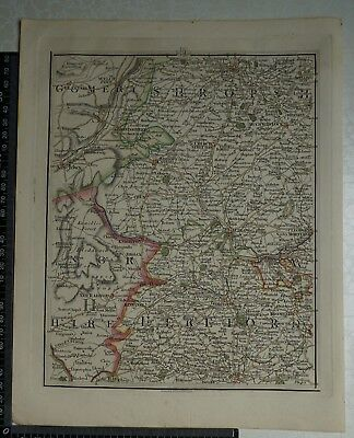 1794 - John Cary Map 31 - Montgomery,Shropshire,Hereford,Radnorshire