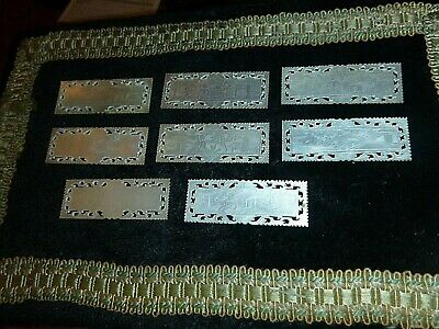 8 Antique Chinese Mother Of Pearl Gaming Counters
