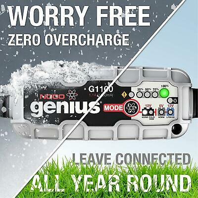 NOCO Genius G1100UK 6V/12V 1,1A Ultrasafe Smart Battery Charger For Cars, And