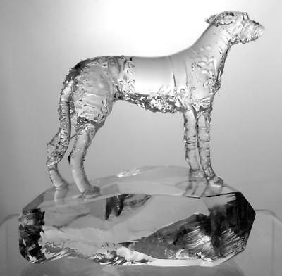 Rare Neil Harris Crystal Glass Artist Lamp Worker Of Dogs / Animals Signed 1989