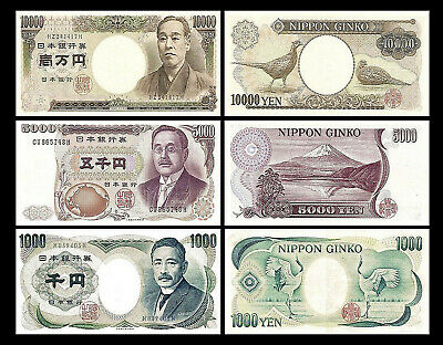 Japan - 2x 10000, 5000, 1000 Yen - Issue ND (1984-1993) - 6 Banknotes - 02