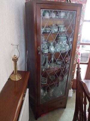 Antique Mahogany Display Cabinet - Collection only