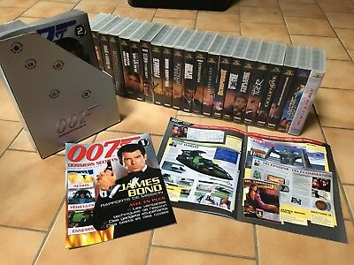"Lot de collection 20 VHS James Bond avec fascicules ""Dossiers secrets"" - Usure n"