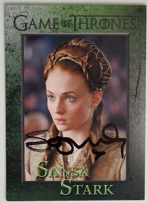 Sophie Turner Sansa Stark Signed Trading Card Jsa Certified Game Of Thrones Auto