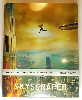 Skyscraper 4K+3D+Blu-ray Region Free (Film Arena) STEELBOOK no disc ever played!