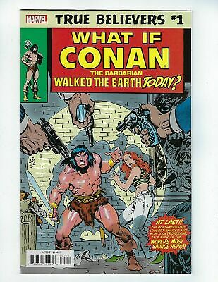 True Believers: What If Conan Walked The Earth Today? # 1 (Mar 2019), Nm New