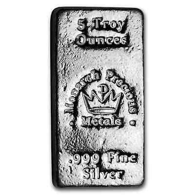 5 oz Hand-Poured Silver Bar - MPM - SKU#190616