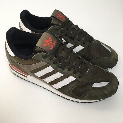 online store da188 f38b9 Adidas Originals ZX 700 Green Suede Sneakers Size Uk 9.5 Running Shoes  Trainers
