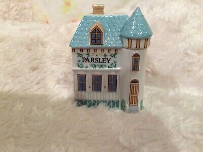 "Brooks & Bentley ""parsley"" spice house collectable"