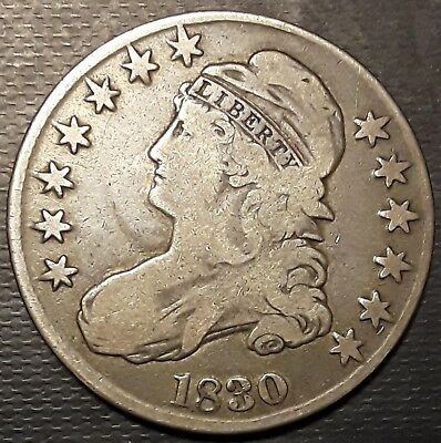 1830 Capped Bust Half Dollar      9218b