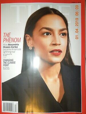 ALEXANDRIA OCASIO-CORTEZ time THE PHENOM changing the climate fight NO LABEL
