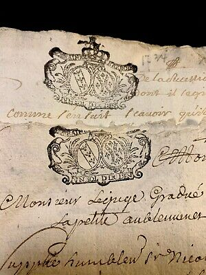 Lot Of Two Antique Documents 1734