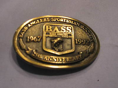 Bass Belt Buckle 25th Anniversary 1967 1992