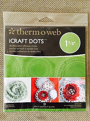 "ThermOweb iCraft 1.5"" Adhesive Dots 18/pk Permanent Photo Safe FREE SHIPPING!!"
