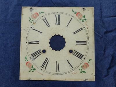 Floral OG Painted Dial Weight Driven Shelf Mantle Clock Original Waterbury Welch