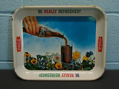 Vintage 1960s Coca Cola Be Really Refreshed Advertising Tray