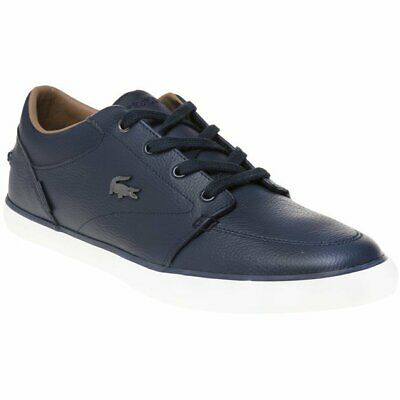 bca36f5bc NEW MENS LACOSTE Blue Laccord Chukka Leather Trainers Boots Lace Up ...