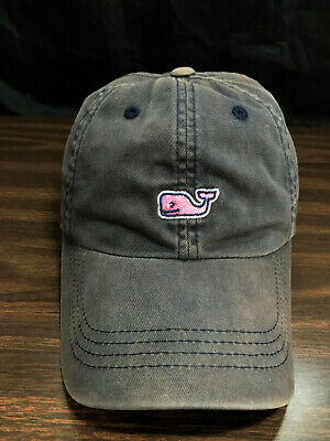 47db5fb4ae64a Vineyard Vines Pink Whale Hat Baseball Cap Faded Color Hand Washed Clean