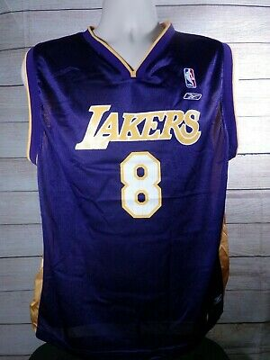 4a473573cb5 KOBE BRYANT JERSEY Reebok NBA Authentic XL Los Angeles Lakers ...