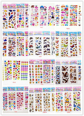 """5 sheets 3D Scrapbooking PVC STICKERS LOT"""" FIGHTER """"Kids GIFT no repeat"""
