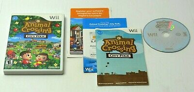 Nintendo Wii Animal Crossing City Folk NOT FOR RESALE COMPLETE TESTED FAST SHIP