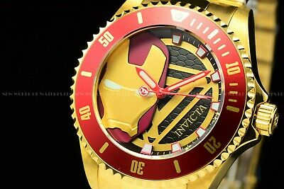 Invicta 63mm Marvel TONY STARK Iron man Grand Octane Swiss Chronograph LE Watch