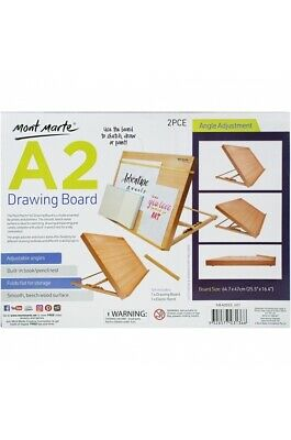 Mont Marte A2 Beech Wood Sketching, Painting or Drawing Board for Desk or Table