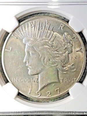 1927-P Peace Silver Dollar NGC MS61 BU Brilliant Uncirculated Nice Luster