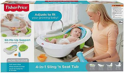 4 in 1 Sling Seat Tub Baby Convertible Bath Newborn Infant Toddler