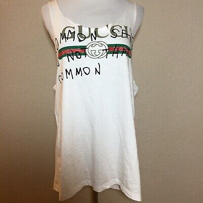 1c9452f187440 Gucci Common Sense Is Not That Common Tank Top Over Sized M 100% Authentic  Ro