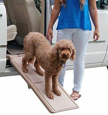 Pet Gear Travel Lite Bi-Fold Half Ramp with SupertraX for cats and dogs