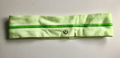 4f37a819c3a Lululemon headband Green and white striped lululemon fly away