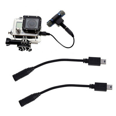 Mini USB to 3.5mm Mic Microphone Adapter Cable Cord for Camera Gopro Hero 3 XIW