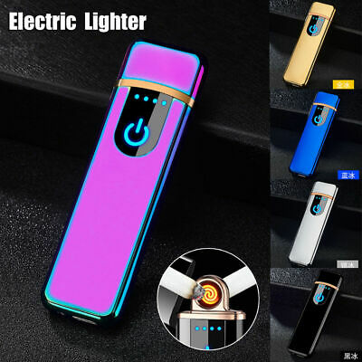 Electric Touch Sensor Metal Cigarette Lighter Rechargeable USB Charging Lighters