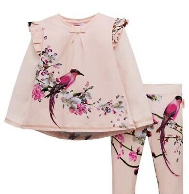 Ted Baker Girls Top And Legging Set 2-3 Years Brand New Flight Of The Orient