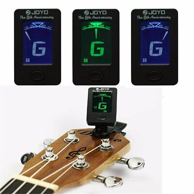 Clip-on LCD Digital Electronic Guitar Tuner for Chromatic Bass Violin Ukulele UK