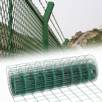 PVC Coated Wire Mesh Fencing 60/180cm Green Galvanised Garden Fence 10-20m Net