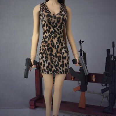 """Leopard Hip Mini Skirt Dress Sexy Fit 12"""" Action Figure Phicen 1/6 Scale Female"""