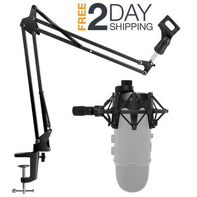 Microphone Desk Arm Stand Boom Arm Scissor And Shock Mount Holder For Blue Yeti