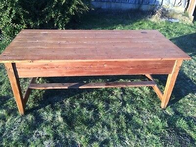 Antique  Pine Refectory Table / Kitchen Table