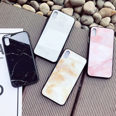 Luxury Marble Tempered Glass Case For iPhone6 7 8 X XS Max XR