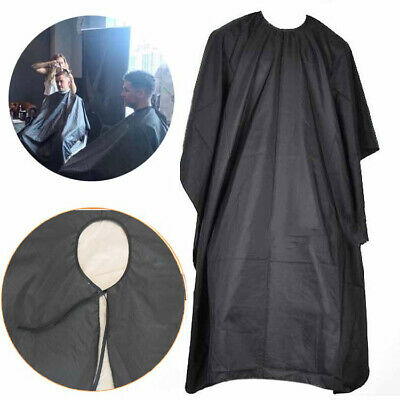 SALON BARBERS HAIR CUT/CUTTING HAIRDRESSING HAIRDRESSERS GOWN CAPE BLACK Cloth