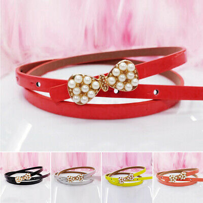 Fashion Belt Candy Colors Toddler Children Color Buckle Colorful Child Girl Bow