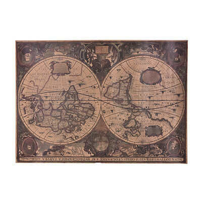 72x51cm Retro Vintage Globe Old World Map Matte Brown Paper Poster Home ZY