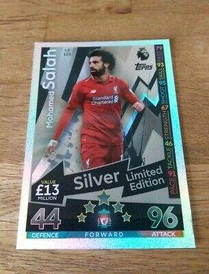 Match Attax  2018/19 Mohamed Salah Silver Limited Edition Card #Le12S
